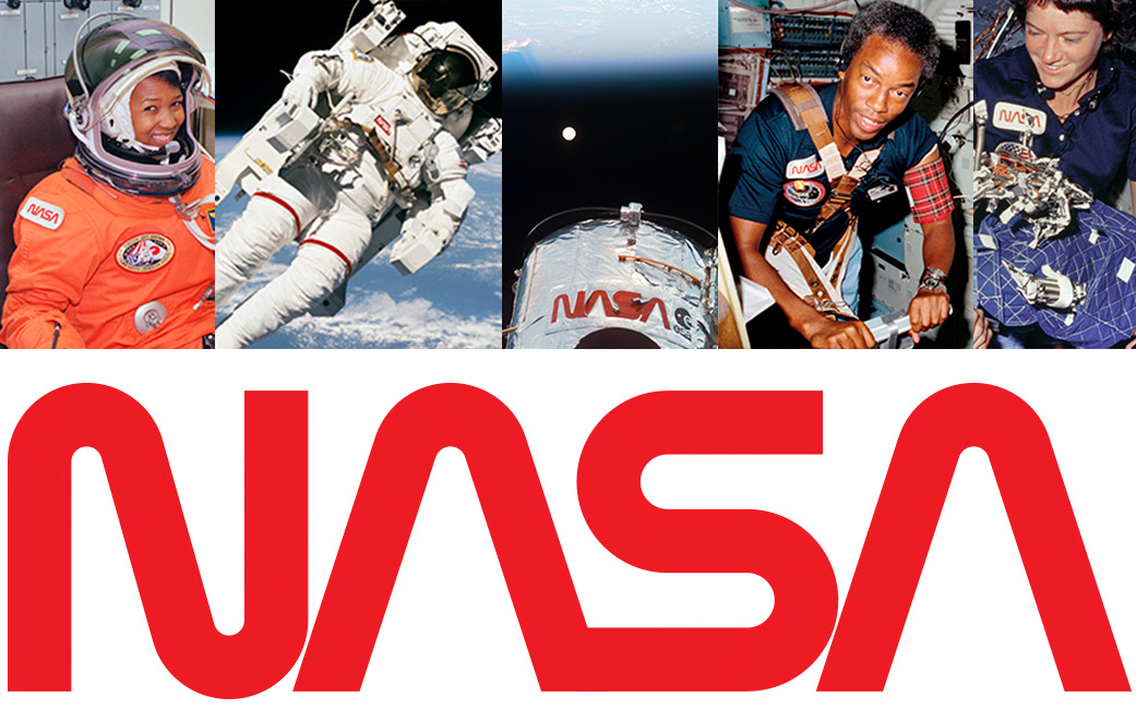 "NASA ""worm"" logo and photo montage featuring this logo"